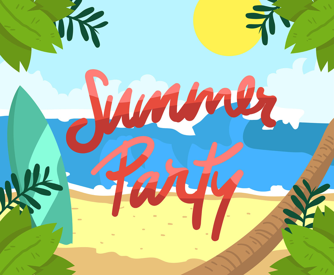 Sunny Day Summer Party Vector