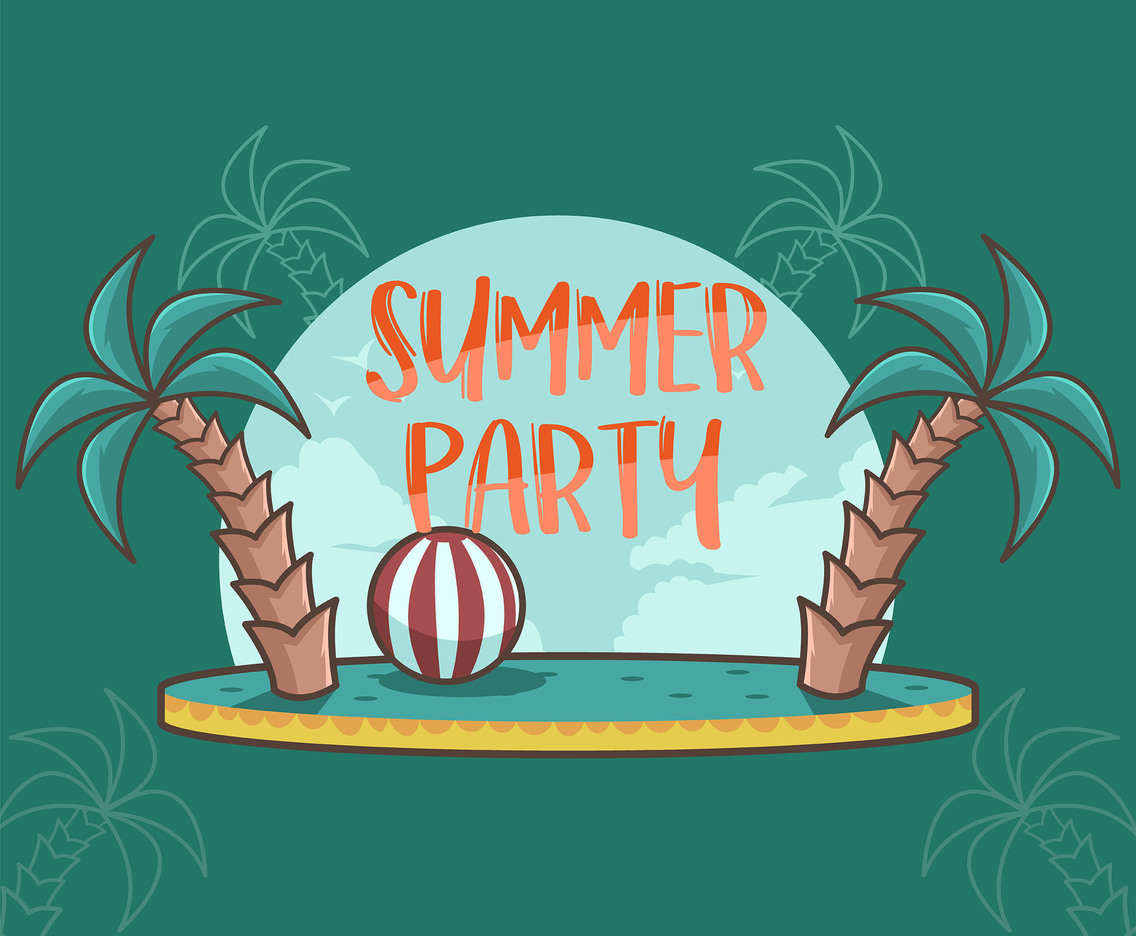 Cheerful Summer Party Vector