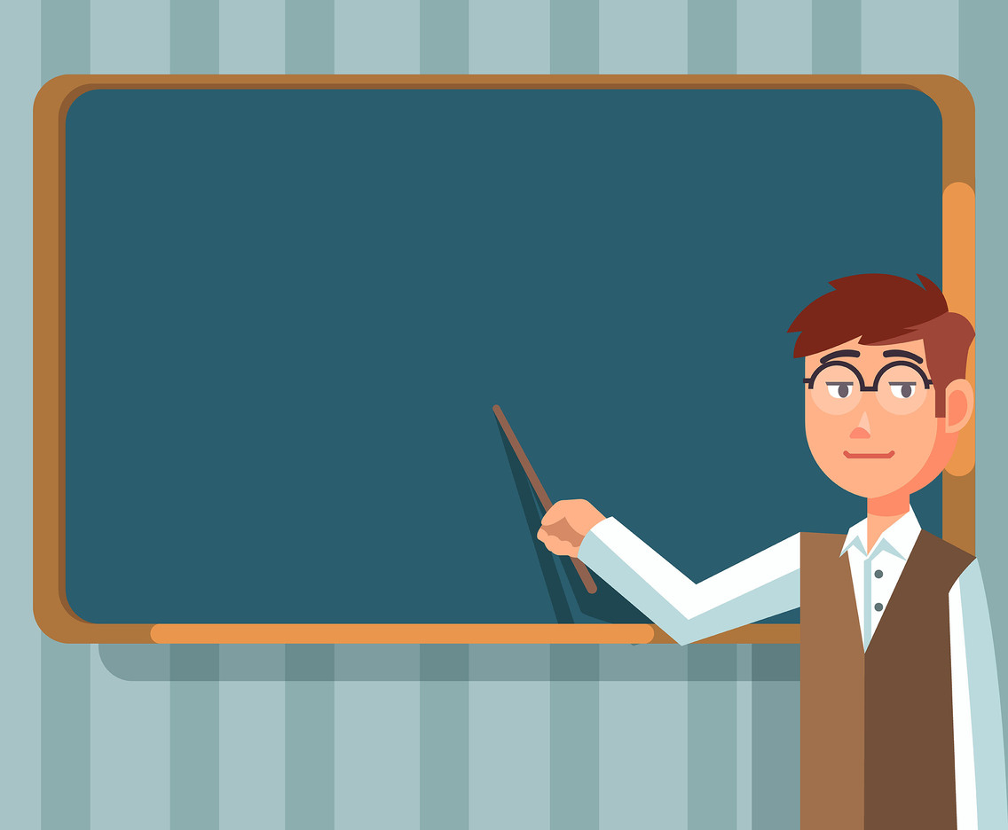 Education Background With Teacher Vector