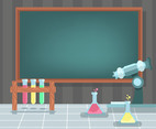 Education Background With Laboratory Vector