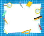 White Education Background Vector