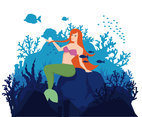 Mermaid vector Illustration