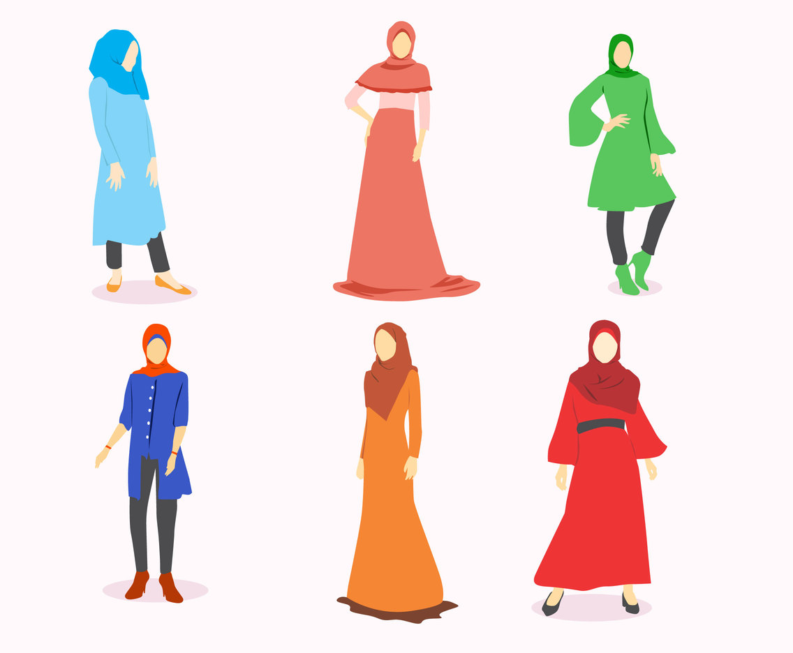 Hijab Style Vector