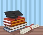 Education Background With Graduate Cap Vector