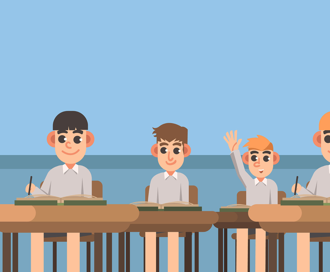 Education Background With Students Vector