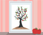 Apple Tree Painting Vector