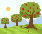Apple Tree Garden Vector