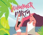 Summer Party Vector Design