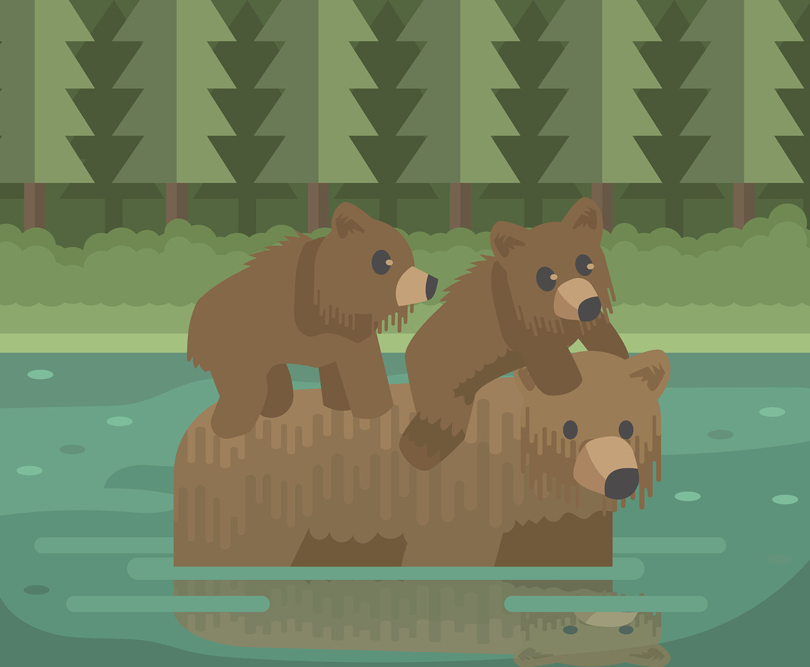 Family of Bear Vector