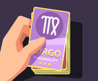 Virgo Card Vector