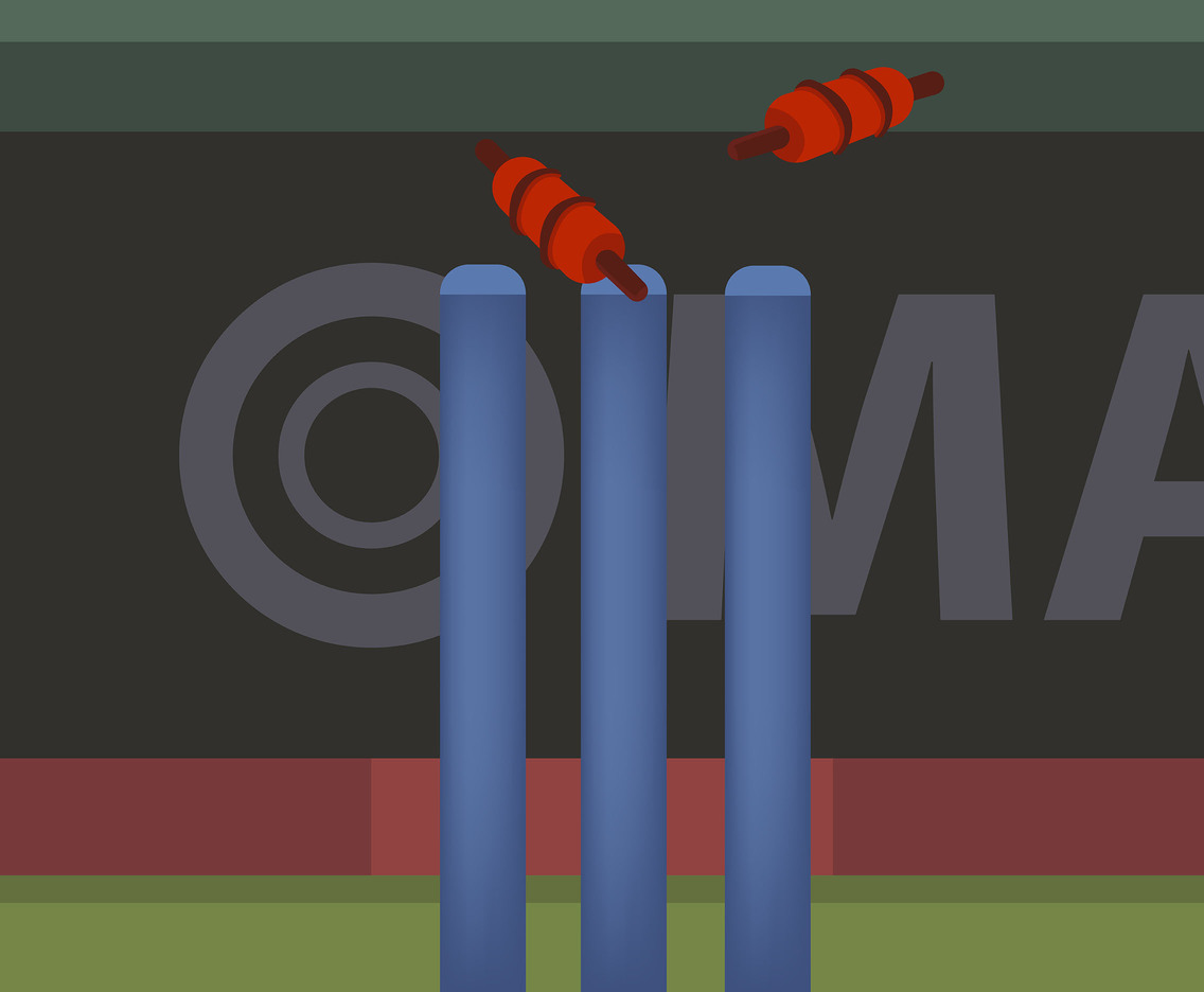 Cricket Stumps Posts Vector