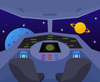 Outstanding Spaceship Cockpit Vectors