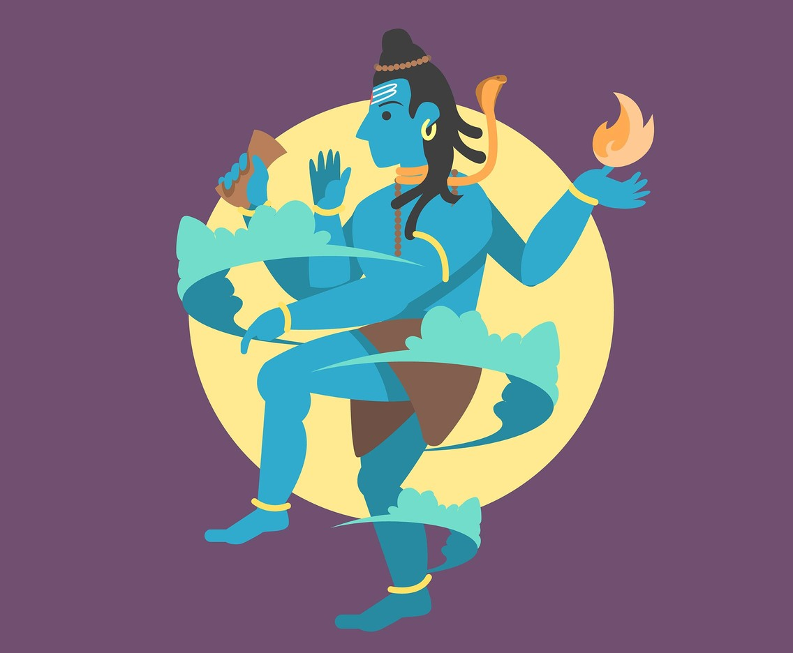 Shiva God's Dance Vector