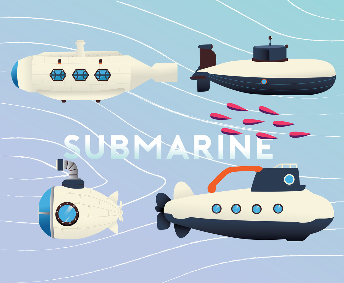 Submarine Vector Pack