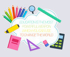 Beautiful Education Background Vectors
