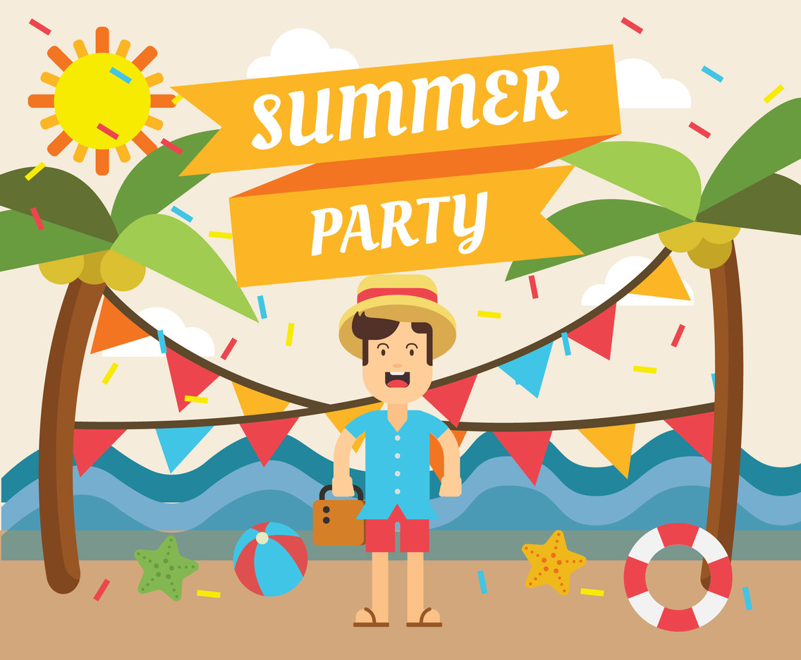Summer Party Illustration Vector