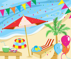 Summer Party Set Vector