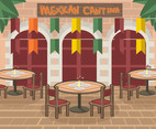 Round-Tabled Mexican Cantina Vector