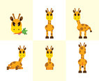 Giraffe Cartoon Vctor