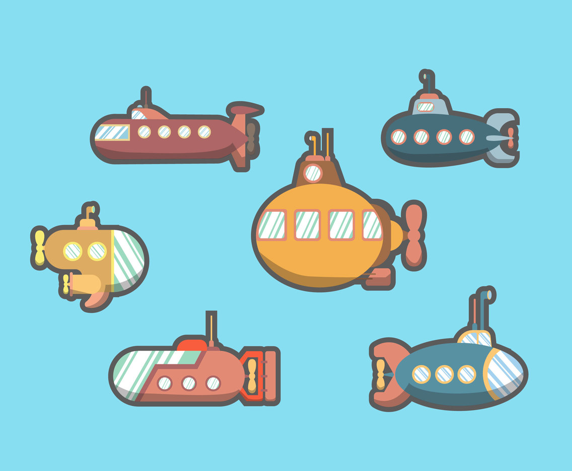 Submarine Toys Vector