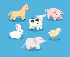 Baby Animal Cartoon Vector
