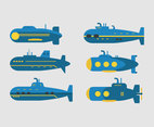 Blue Submarines Vector
