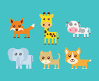 Cute Baby Animal Vector