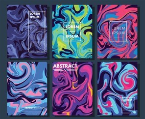 Abstract Liquid Background Vector Pack