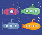 Submarines Collection Vector