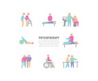 Physiotherapy Colorful Icons