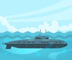 Black Submarines Vector