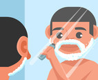 Beard Grooming Vector