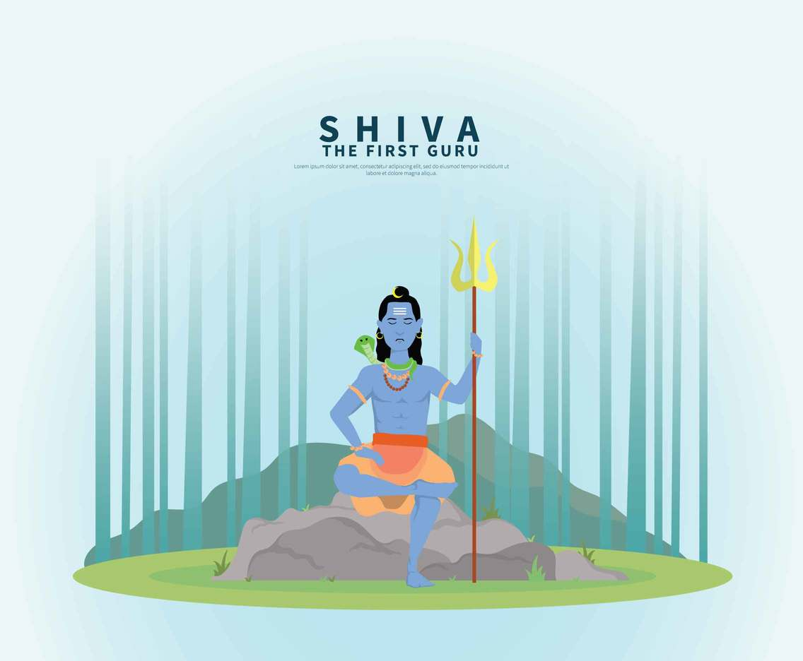 Shiva God illustration