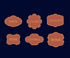 Vintage Label 2 vector pack