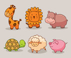 Baby Animal Collection Vector
