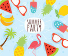 Flat Summer Party Vector