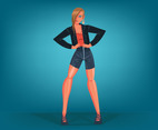 Fashion Model Pose Vector