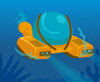 Underwater Submarines Vector