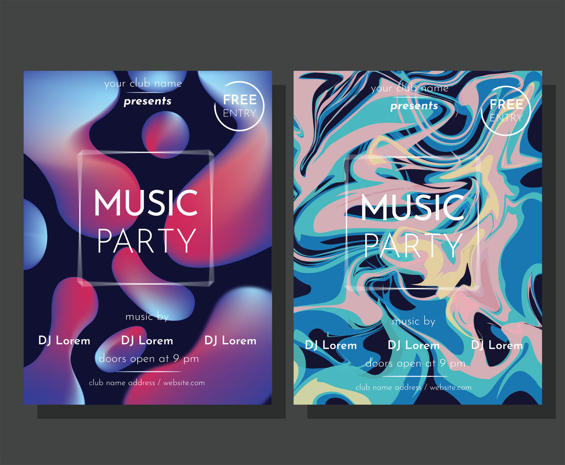 Party Flyer Vector Pack