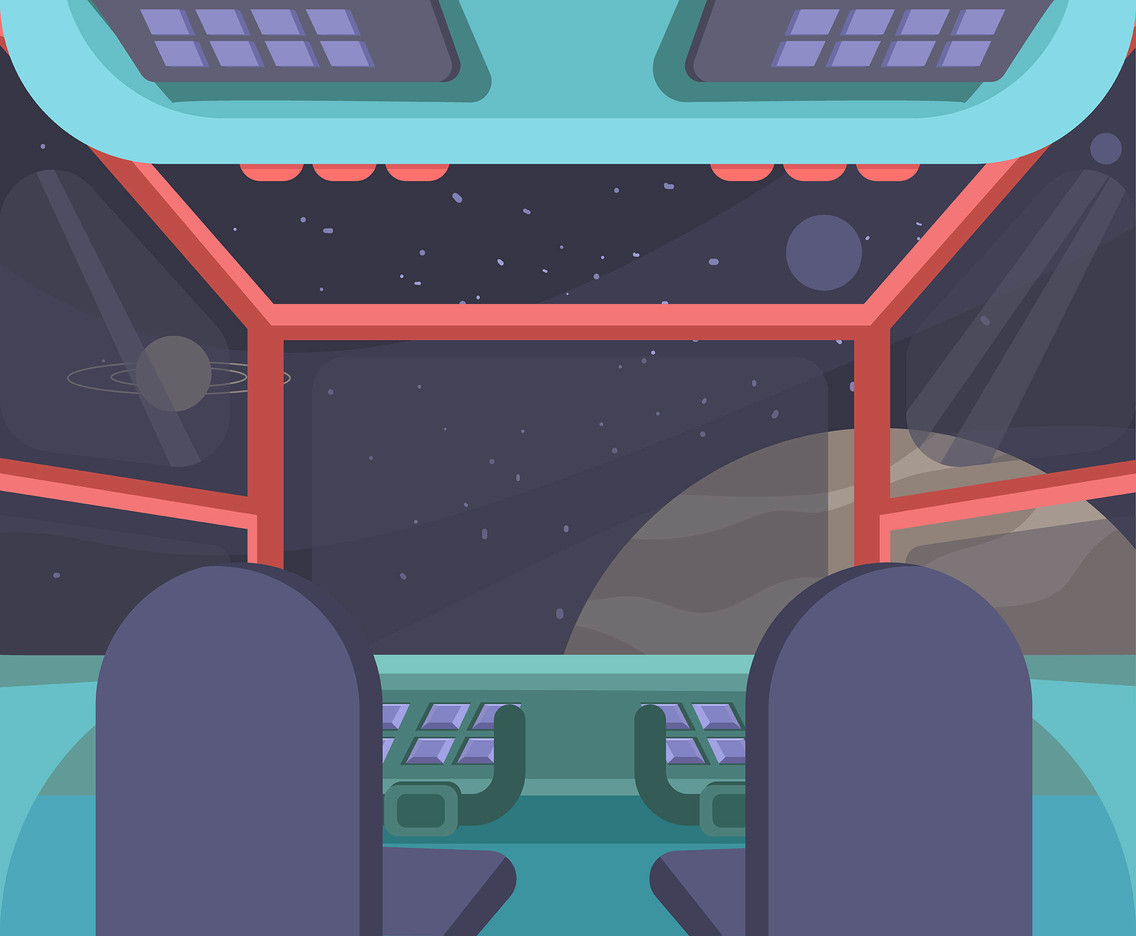 Spaceship Cockpit and Windscreen Vector
