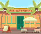 Mexican Cantina Front Vector