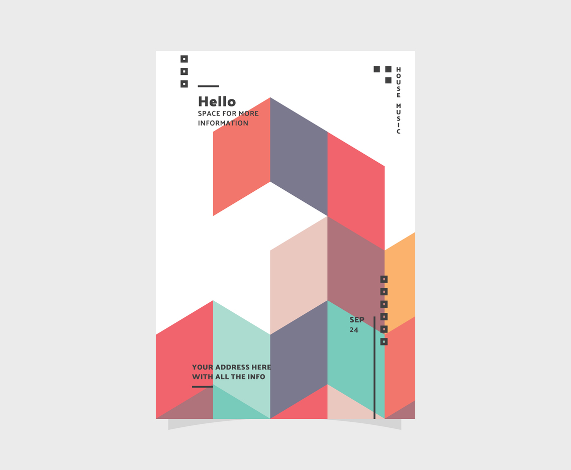 Geometric And Simple Party Flyer