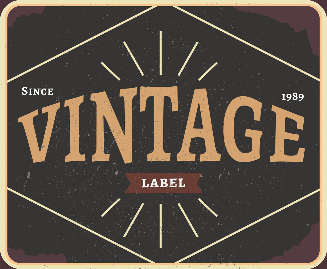 Vintage Labels Since 1989 Vector