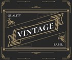 Black Vintage Labels Vector