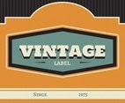 Orange Vintage Labels Vector
