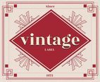Pink Vintage Labels Vector