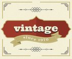 White Vintage Labels Vector