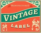 Vintage Labels Year 1940 Vector