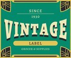 Grocery Vintage Labels Vector