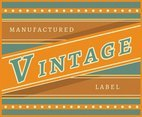 Yellow Vintage Labels Vector